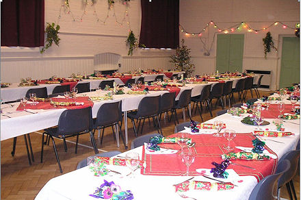 The main hall prior to a Christmas party