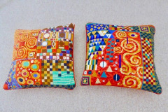 Cathy Lawday: Tapestry Cushions with all the Colours of the Rainbow