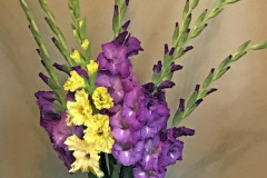 Daphne Preston: Gladioli in a Vase
