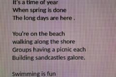 Under 12s A Poem called \'Summer\'