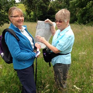 1. Julie & Jane with the OS map