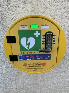 Defibrillator on the wall