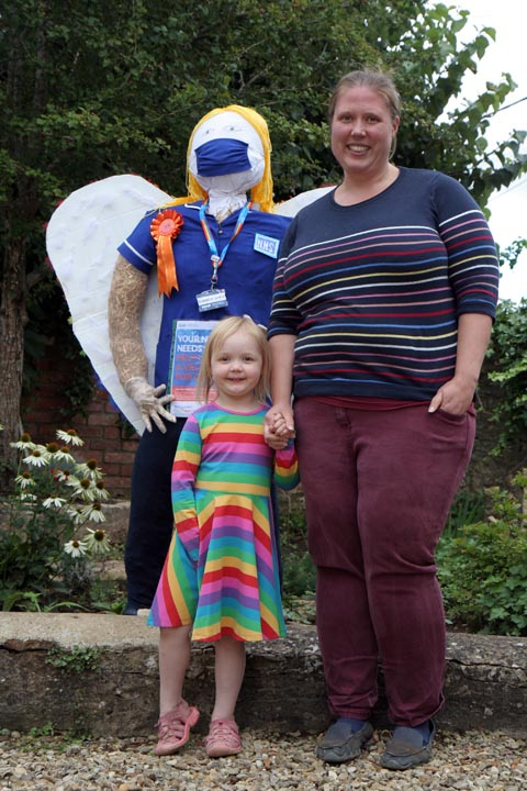 Claire Hall & daughter & NHS Angel